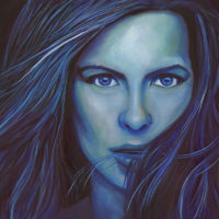 Blue Kate Oil Painting