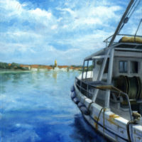 Valentina Boat Oil Painting