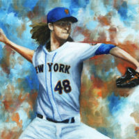 Jacob deGrom Oil Painting