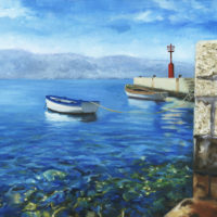 Two Boats Oil Painting